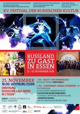 XV. Festival der russischen Kultur: Eröffnung & Premiere Poster