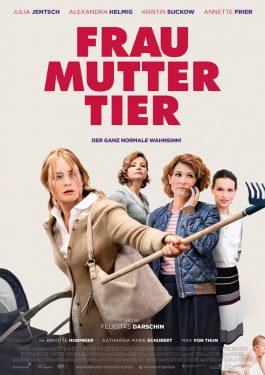 Frau Mutter Tier Poster